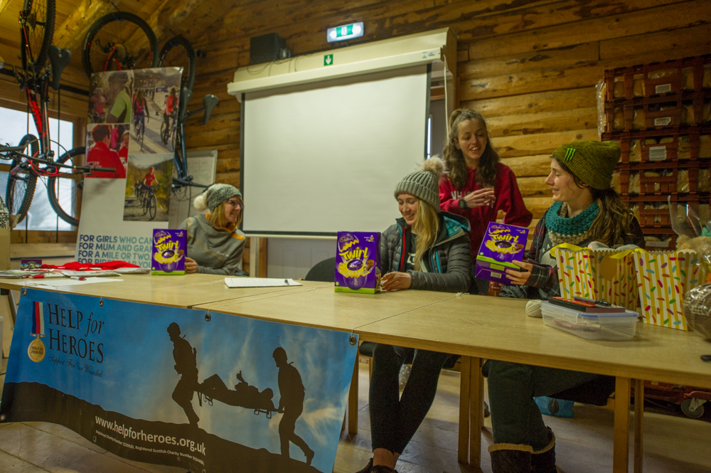 Girls at Llandegla Mountain Biking Event