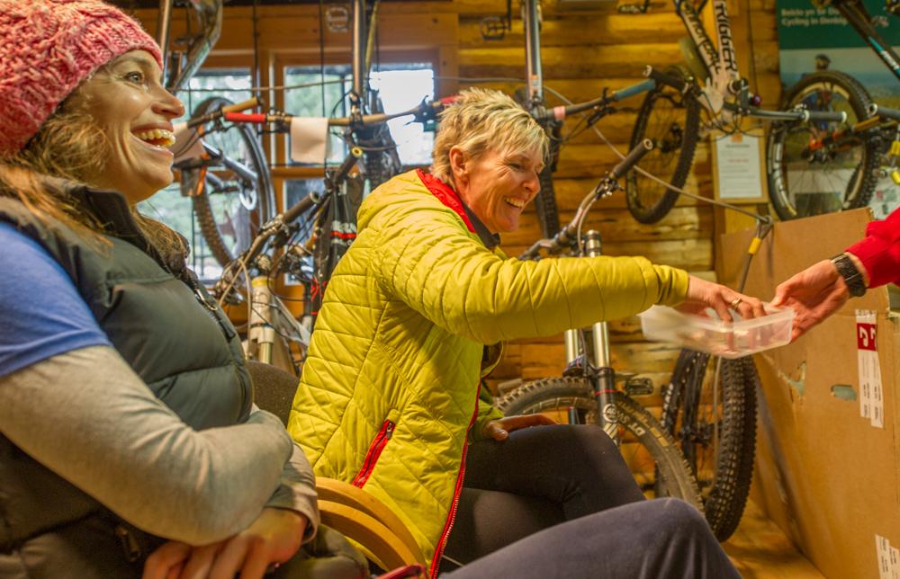 Female Mountain Bikers, Llandegla Forest