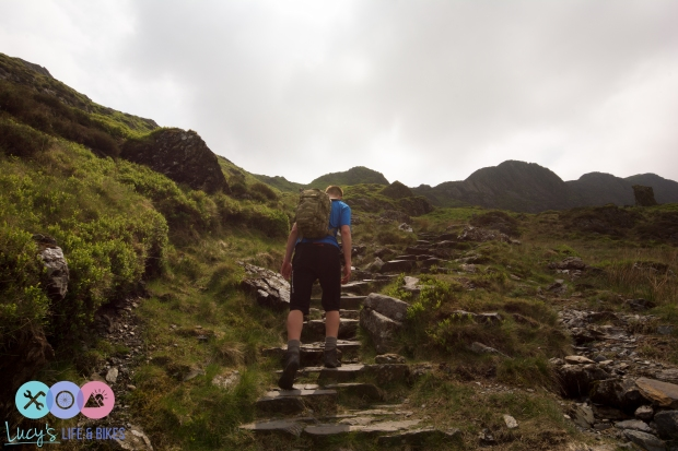 Walking up Cadair Idris