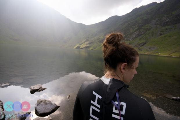 Swimming in Llyn Cau, Cadair Idris